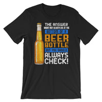 Bottom Of a Beer Bottle - Short-Sleeve Unisex Beer T-Shirt