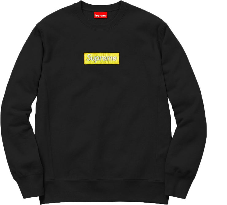 Supreme Spain – Sudadera Logo Amarillo Bordado