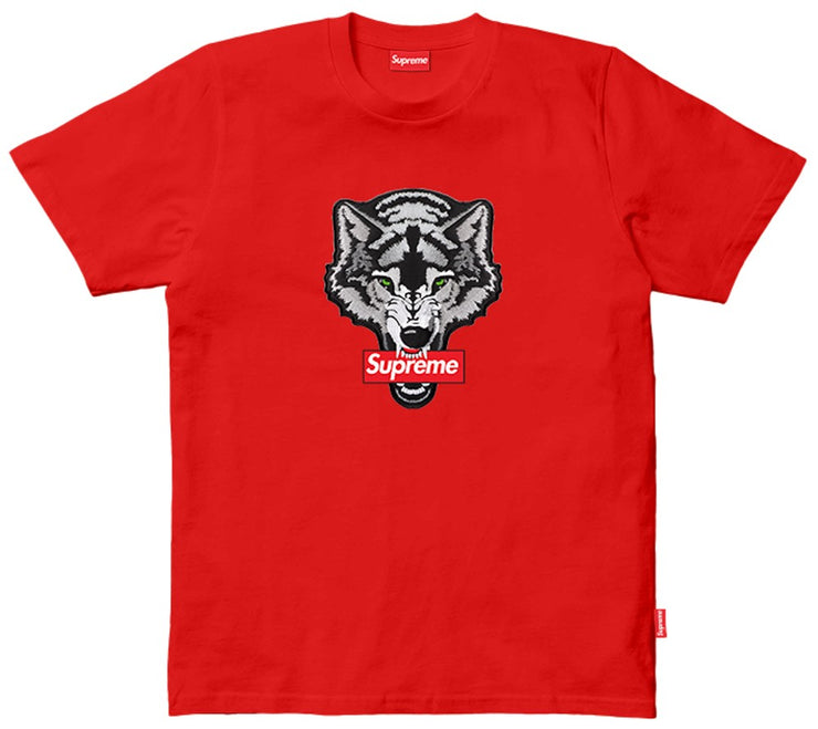 T-SHIRT SUPREME LOGO LOBO BORDADO