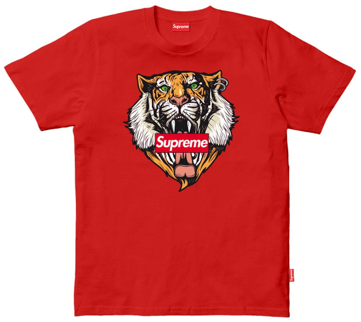 T-SHIRT SUPREME LOGO TIGRE BORDADO