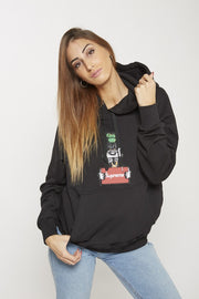 SUDADERA CAPUCHA SUPREME WANTED LOGO BORDADO