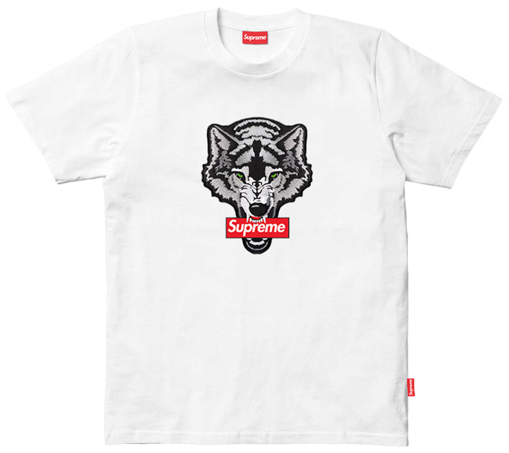 Supreme Spain – T-Shirt Logo Lobo Bordado