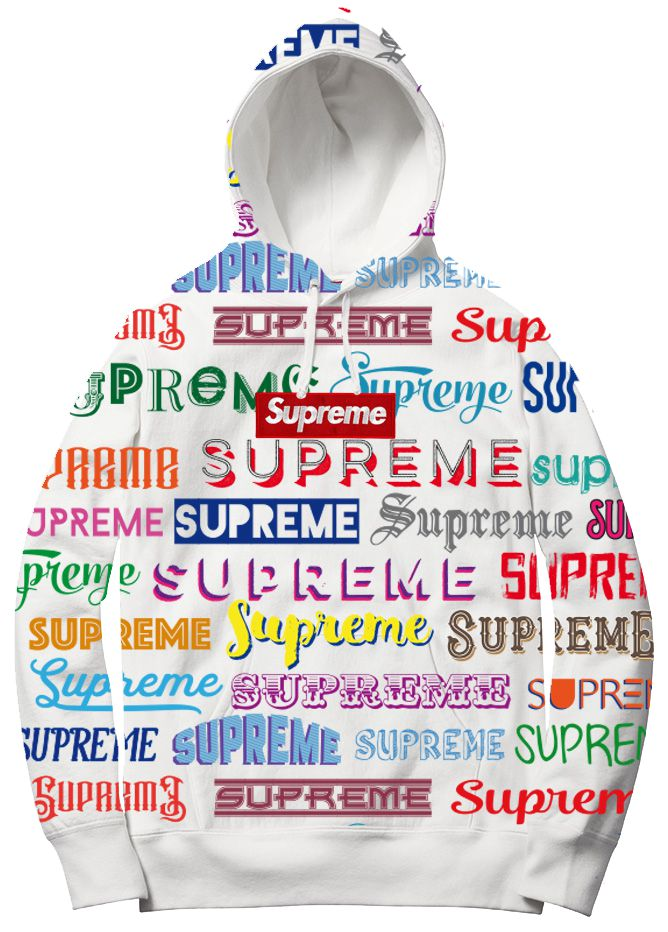 Supreme Spain - Sudadera Capucha Estampada Allover- COLECCIÓN FALL/WINTER '19/'20