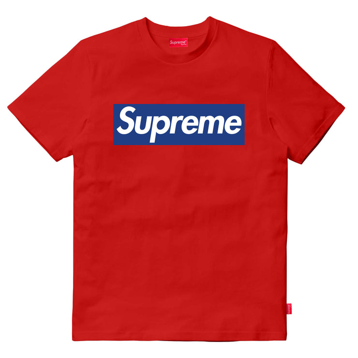 Supreme Spain - T-Shirt Logotipo Azul