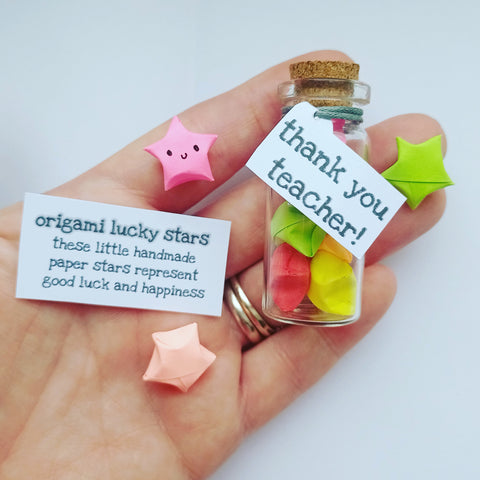 Thank you teacher origami lucky stars