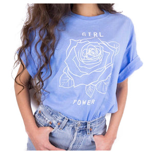 Power Rose Printed T Shirt