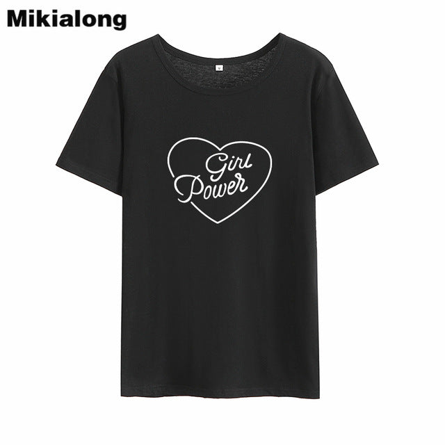 Girl Power Heart Tshirt