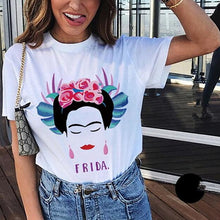Load image into Gallery viewer, Frida Kahlo T-Shirt Girl Power