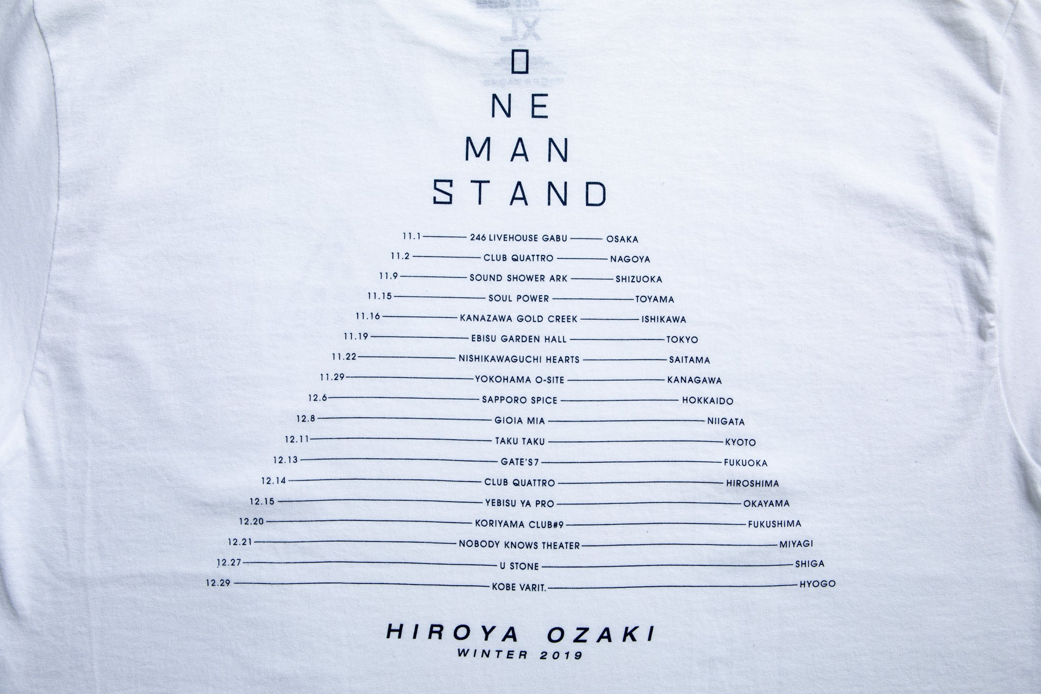 ONE MAN STAND WINTER 2019 LONG T-SHIRT(WHITE/NAVY)