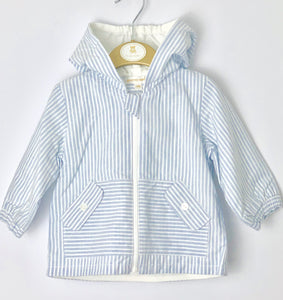 high fashion cheap sale genuine shoes Mintini Baby - Boys Lightweight Stripe Summer Jacket with Hood
