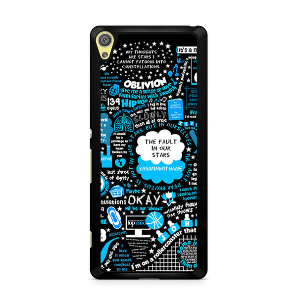 John Green Fault In Our Stars Quotes Sony Xperia Xa Case Skicase