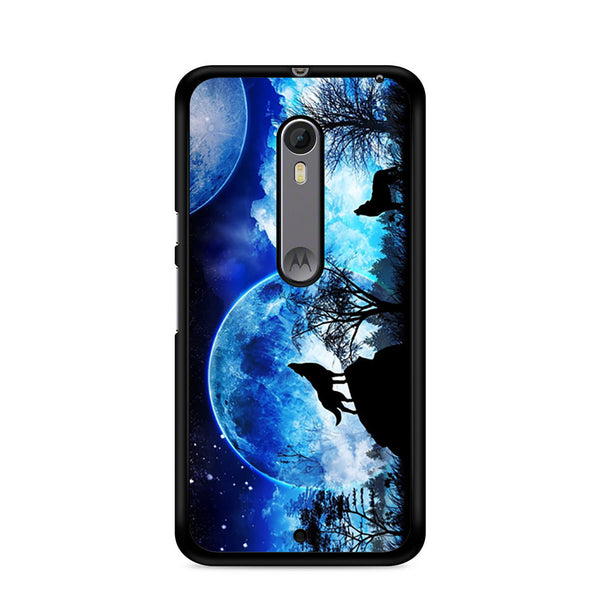 factory authentic 365e3 33bb6 Wolf And Moon Motorola Moto X Style / Moto X Pure Edition Case