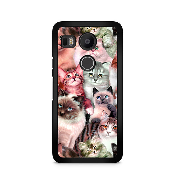 new product c4cfa 05b7a Adorable Pets Kitten Cat Collage Nexus 5X Case