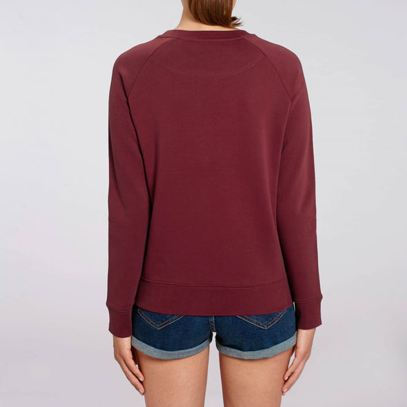 Do The Hustle - Organic - Luxury Raglan Sweatshirt - Burgundy - Womens