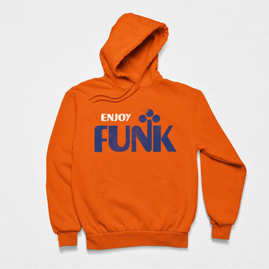 Enjoy Funk - Organic - Luxury Hoodie - Orange - Mens / Unisex