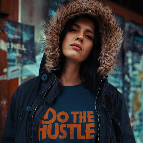 Do The Hustle - Organic - Luxury Raglan Sweatshirt - French Navy - Womens