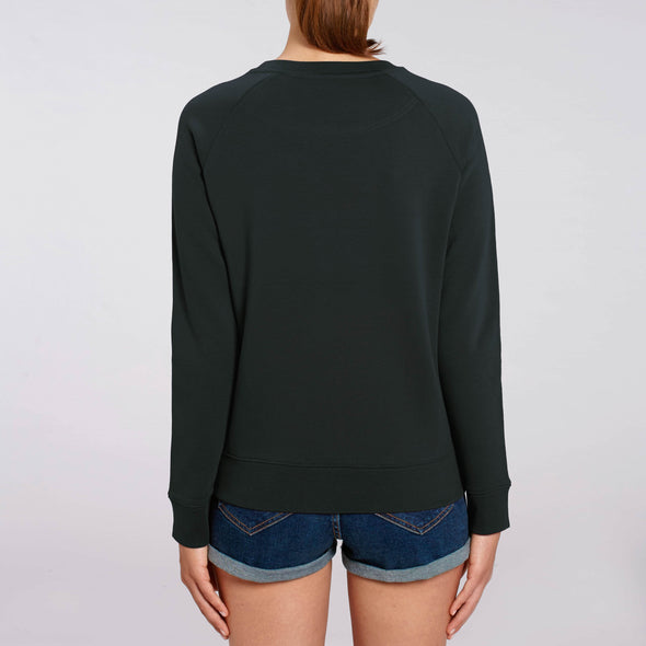 Fifty Four - Organic - Luxury Raglan Sweatshirt - Black - Womens
