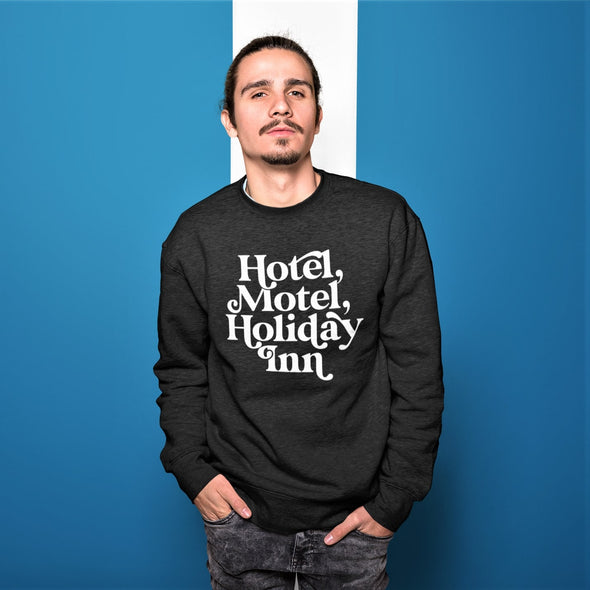 Hotel Motel - Organic - Luxury Sweatshirt - Black - Mens / Unisex