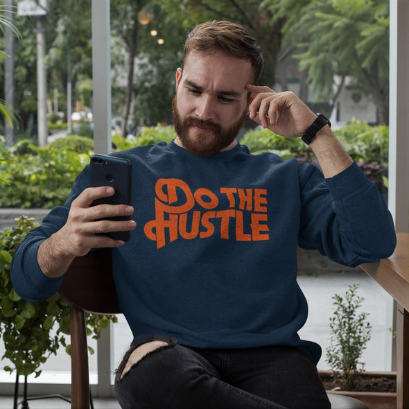 Do The Hustle - Organic - Luxury Sweatshirt - French Navy - Mens / Unisex
