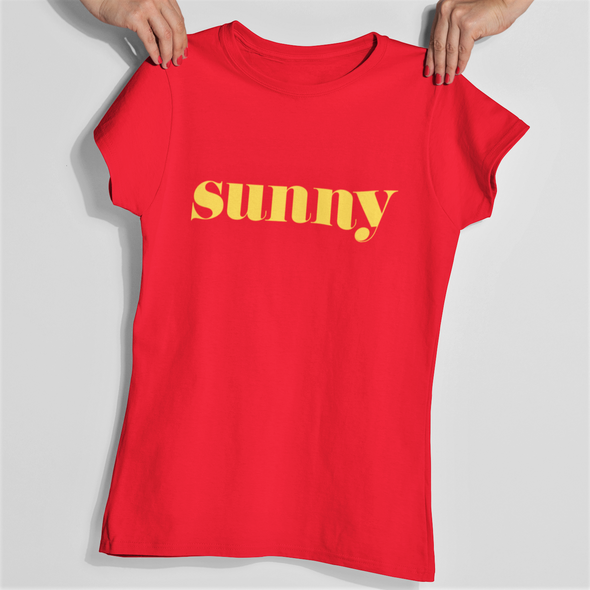 Sunny - Organic - Luxury Slim fit T-Shirt - Red  - Womens