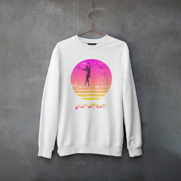 Paradise - Organic - Luxury Sweatshirt -  White - Mens / Unisex