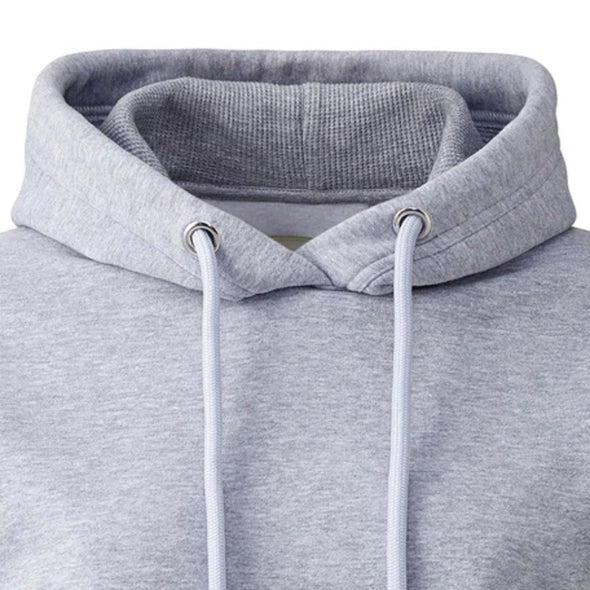 Born To Be Alive - Organic - Luxury Hoodie - Grey Marl - Womens