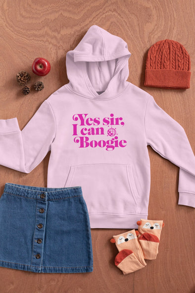 Yes Sir I Can Boogie - Officially Licensed - Scotland - Organic - Kids Unisex Hoodie - Pink