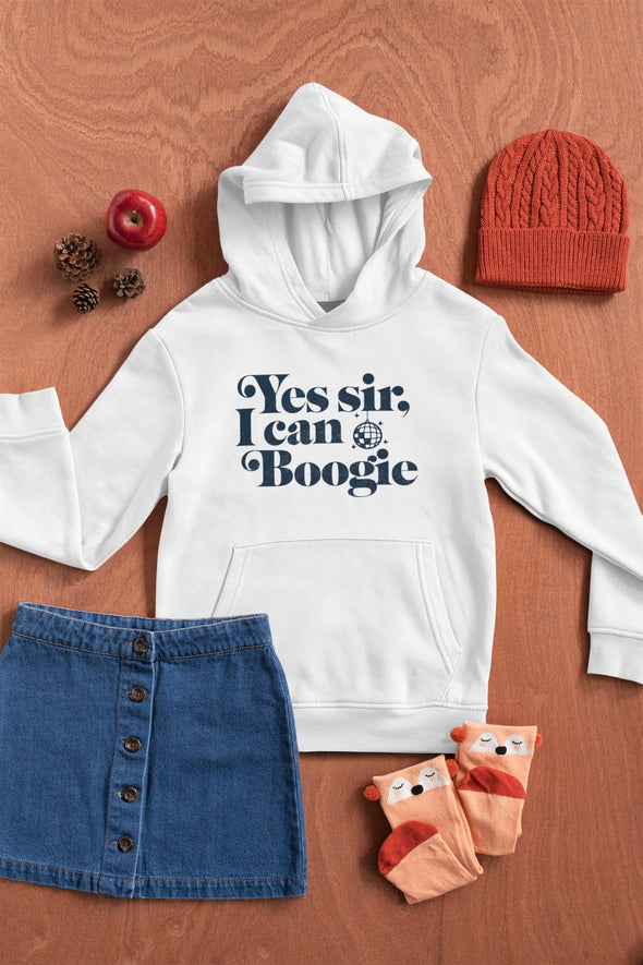 Yes Sir I Can Boogie - Officially licensed - Scotland - Organic - Kids Unisex Hoodie - White