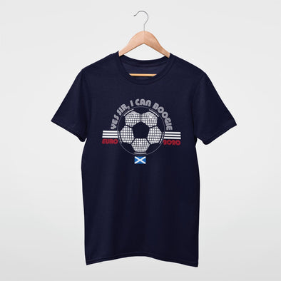 Yes Sir I Can Boogie - Officially Licensed Scotland - Organic - Classic Fit Heavy T-Shirt - Navy - Mens