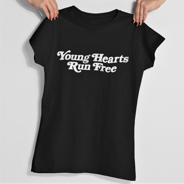Young Hearts - Organic - Luxury Slim fit T-Shirt - Black - Womens