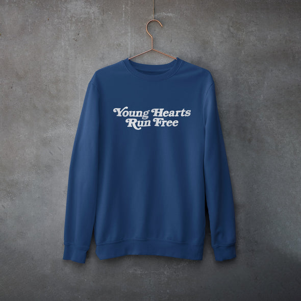 Young Hearts - Organic - Luxury Sweatshirt - Blue  - Womens / Unisex