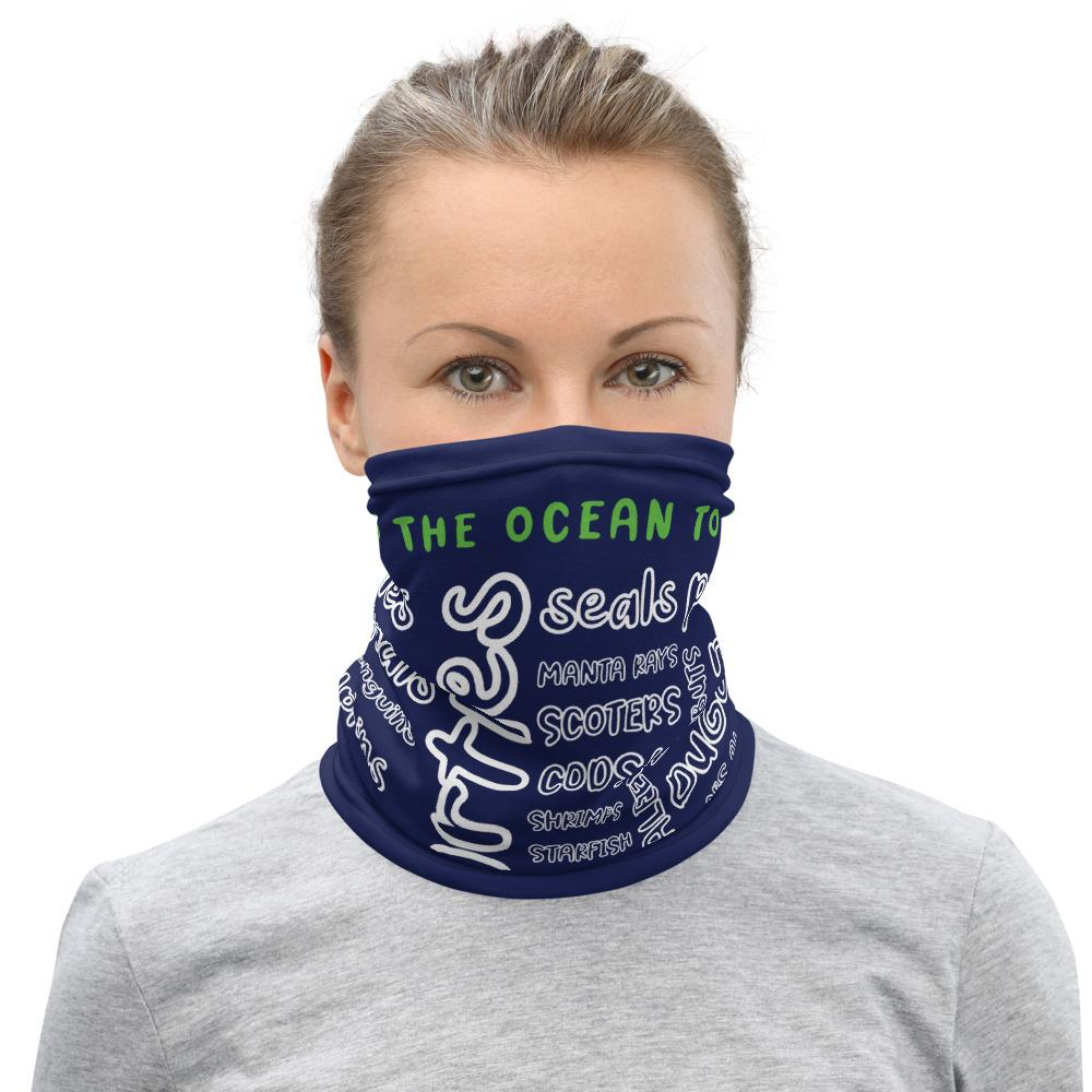 Cleaning The Ocean To Save The Wildlife - Neck Gaiter