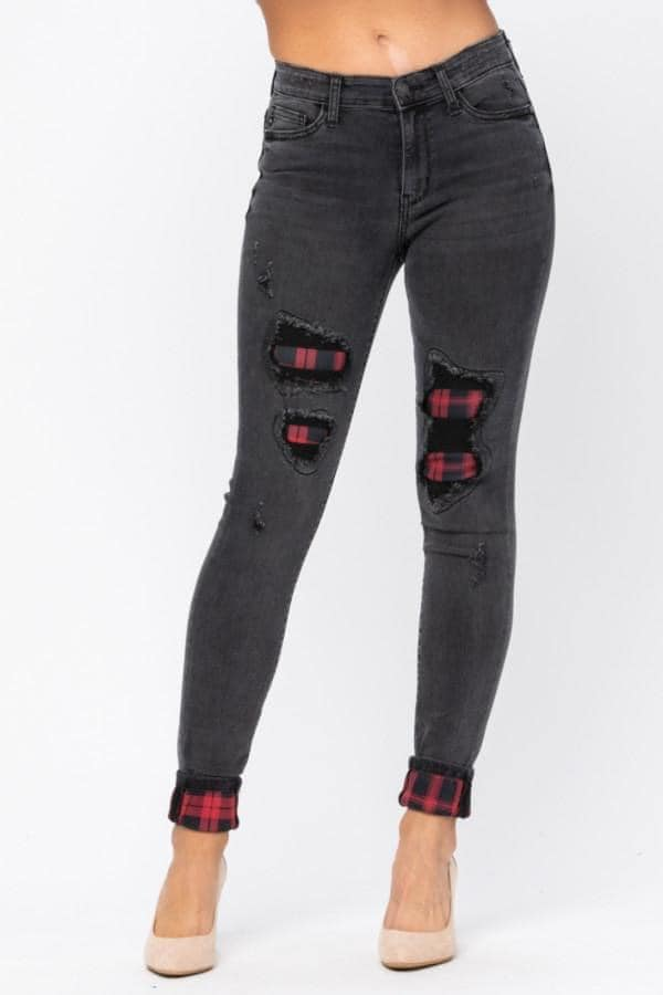 Judy Blue Buffalo Plaid Jeans
