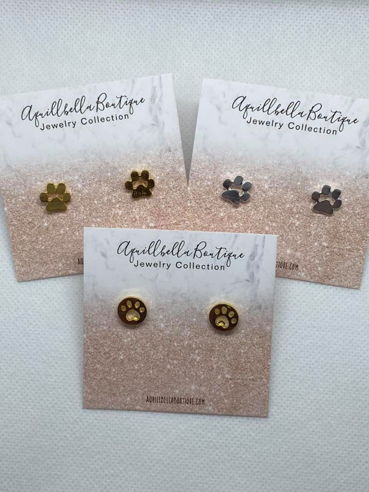 Animal Paw & Pug Earrings (Mult Available)