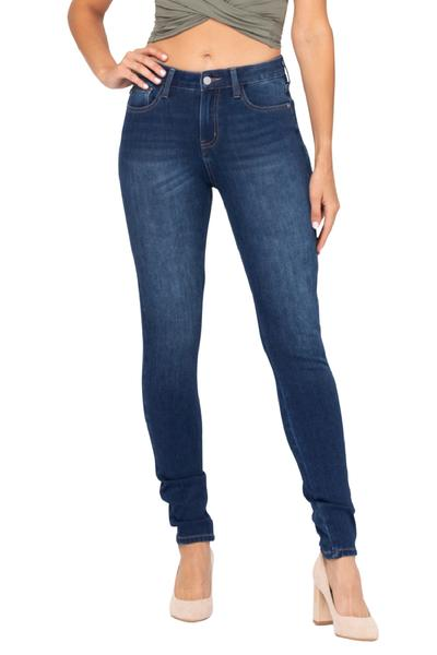 Judy Blue Mid Rise Non Distressed Skinny Jeans