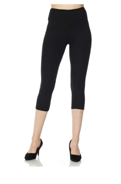Black Yoga Band Capris