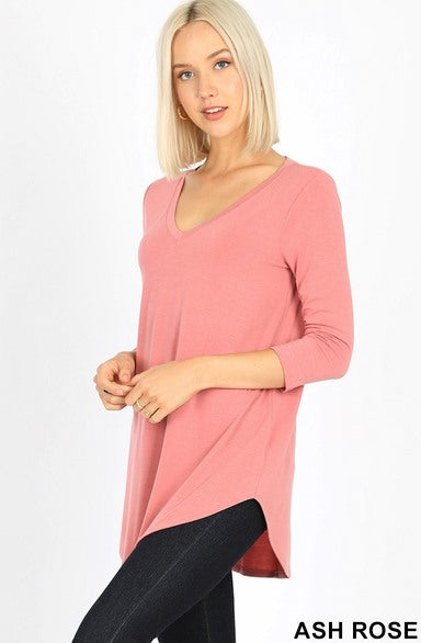 3/4 Sleeve V Neck Tunic 1