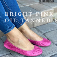 Storehouse Flats - Bright Pink Oil Tanned