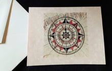 Load image into Gallery viewer, Note Cards - Compass Rose - 45 options