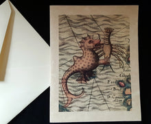 Load image into Gallery viewer, Note Cards - Sea Monsters - 24 options
