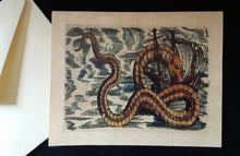 Load image into Gallery viewer, Note Cards - Ships/Maps with Sea Monsters - assorted options