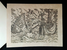 Load image into Gallery viewer, Note Cards - Ships/Maps with Sea Monsters - 43 options