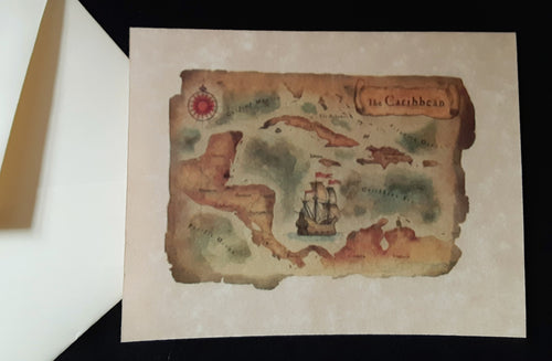 Note Cards - Antique Nautical Maps - 6 options