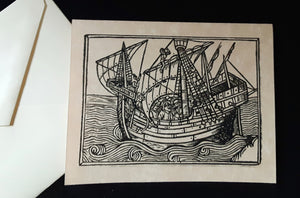Note Cards - Ships - assorted options