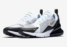 Load image into Gallery viewer, Air Max 270 White Metallic Gold Black UNISEX Original