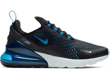 Load image into Gallery viewer, NIKE AIR MAX 270 BLACK/ PHOTO BLUE-BLUE FURY-PURE PLATINUM