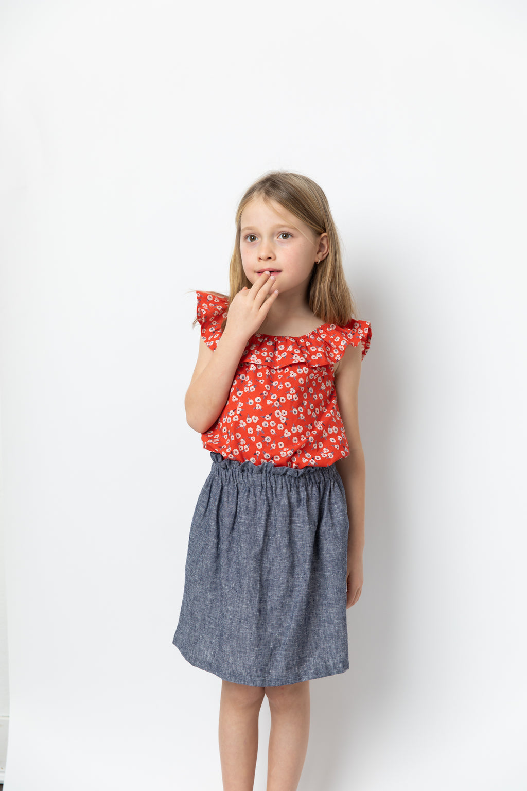 Bertille Skirt Chambray