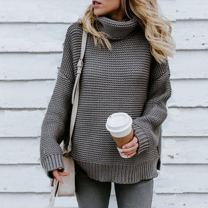 Turtle Neck  Plain Casual  Sweaters