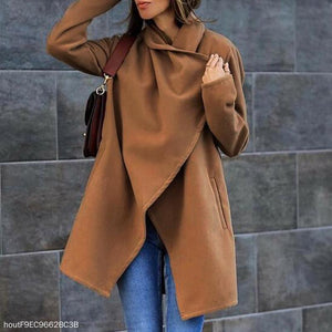 Woolen Coat With  Pocket Coat
