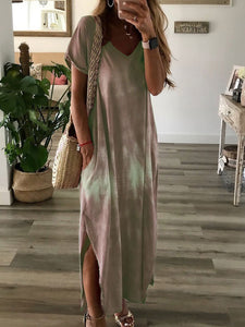 Casual V Neck Dress